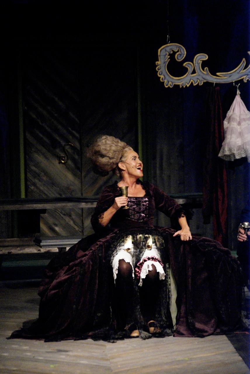 Jag som Diana Sjana i Tiggarens Opera höst 2011